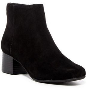 NWT | 8 | ALL BLACK SUEDE LEATHER BOOTIES NEW
